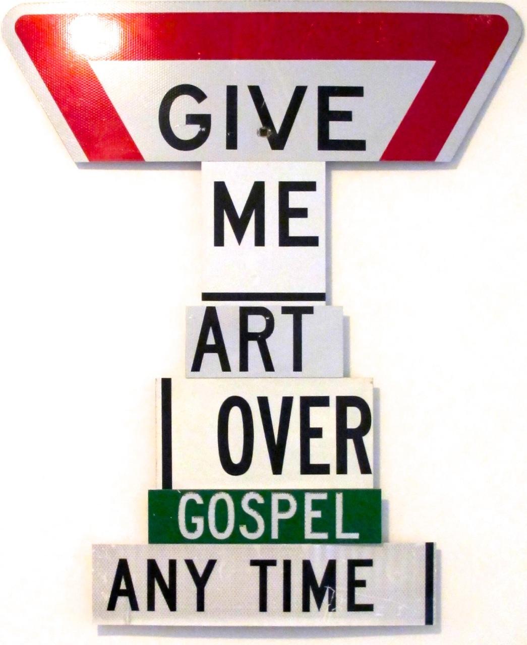 GIVE ME ART OVER GOSPEL ANY TIME - Alan James 2012